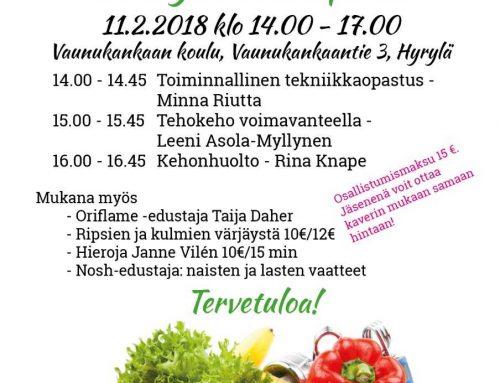 Tervetuloa Terveysliikuntapäivään su 11.2.