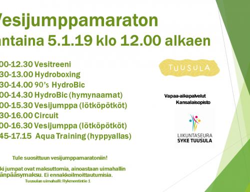 Vesijumppamaraton la 5.1.2019