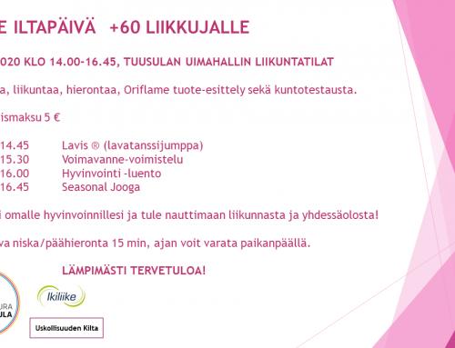 60+ Hyvinvointi-iltapäivä 18.1.2020